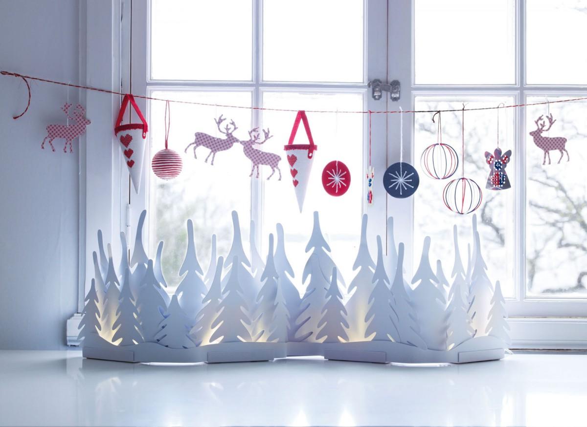 Новогоднее окно. Как украсить окна на Новый год - Адалин 73