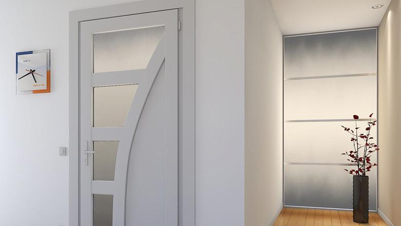 металлопластиковые межкомнатные двери Rehau Euro Design 60 купить пластиковые межкомнатные двери