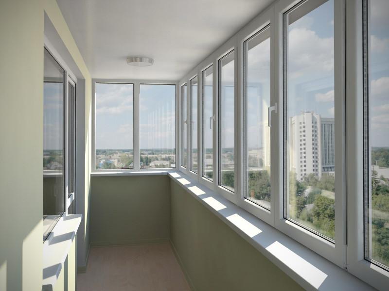 Дизайн балконов остекление