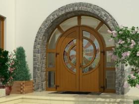 Вхідні двері для котеджу