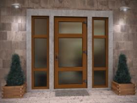 Цветные металлопластиковые двери