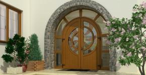 Входные двери для коттеджа