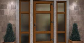 Кольорові металопластикові двері