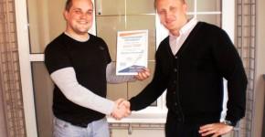 Вручение первого в Украине окна генео