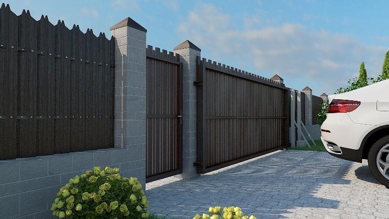 заказать откатные ворота ТМ КОРСА