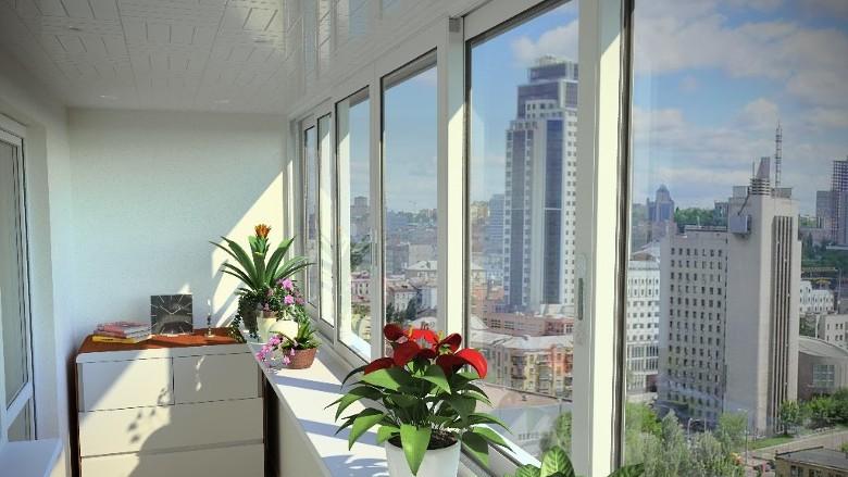 Раздвижные балконы пвх