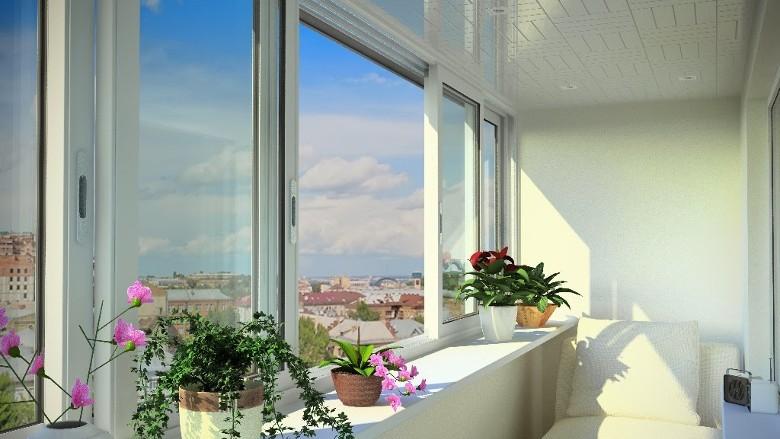 Раздвижные балконы пластиковые