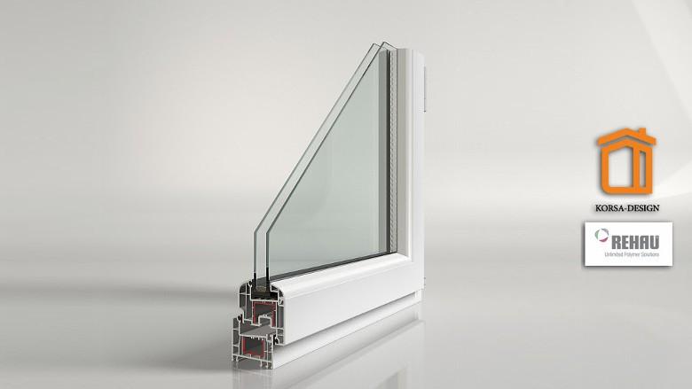 Купить металлопластиковые окна REHAU Korsa Design 70