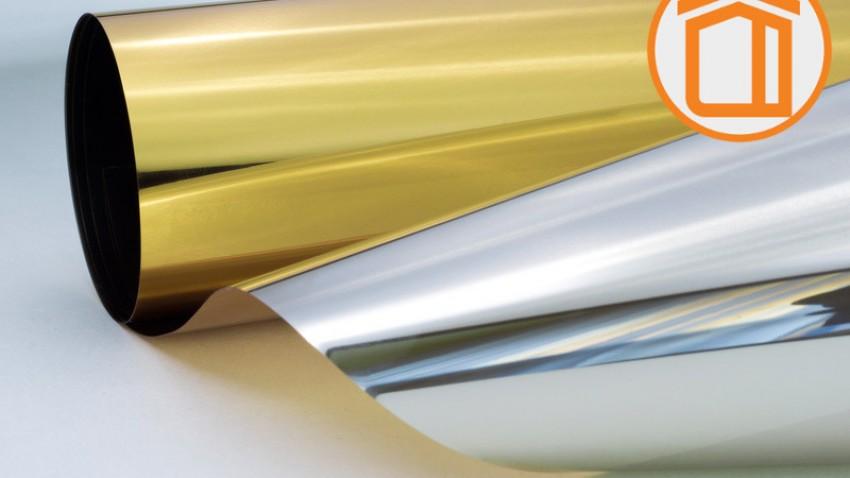 Сонцезахисна дзеркальна плівка G-M 15 GL (золото/срібло)
